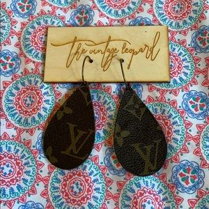 Brand new up cycled Louis Vuitton earrings